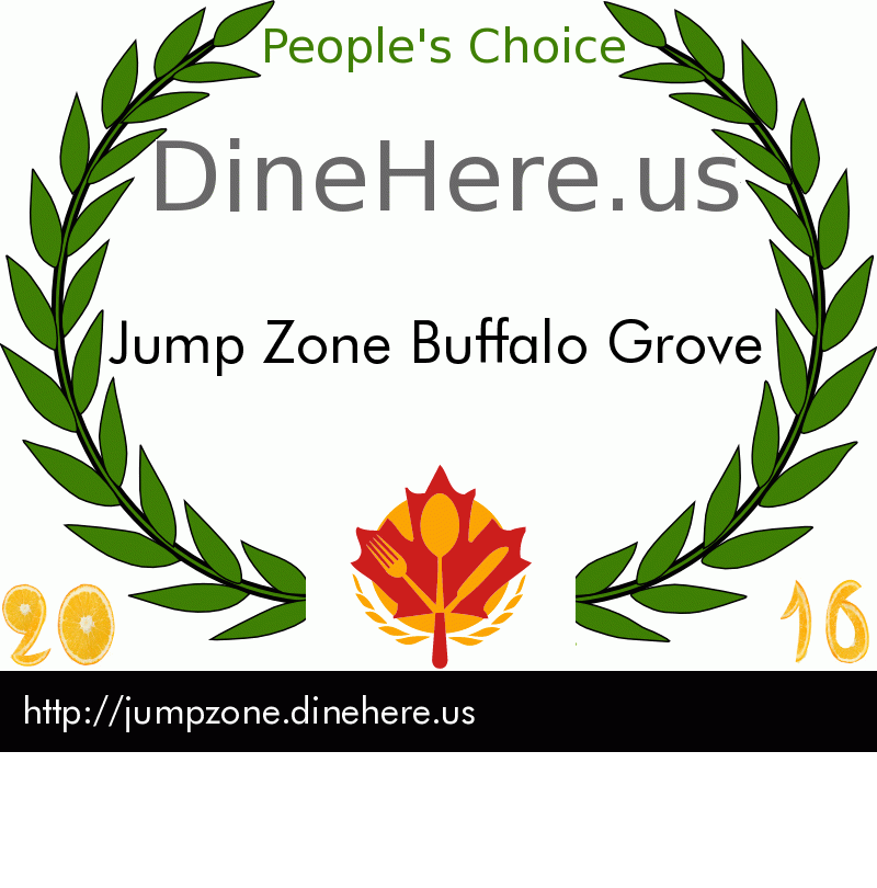 Jump Zone Buffalo Grove DineHere.us 2016 Award Winner